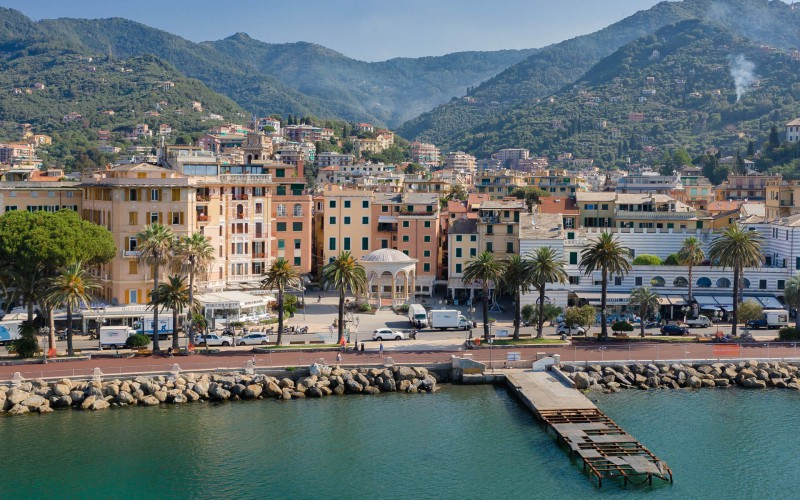 Panoramic view of Rapallo from the Gulf